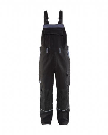 Blaklader 2861 Anti-Flame Bib Trouser (Black/Grey)